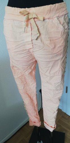 Pantalón elástico albaricoque