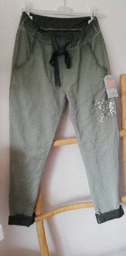 Made in Italy Pantalone fitness cachi