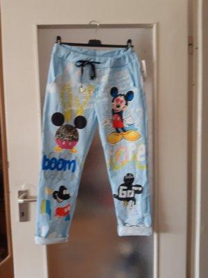 Made in Italy Spodnie typu boyfriend baby blue