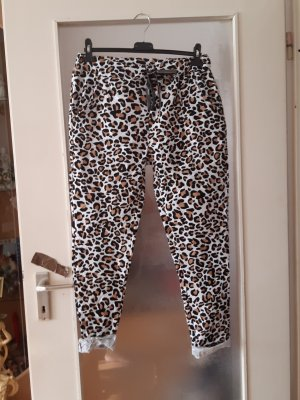 Made in Italy Spodnie typu boyfriend brąz