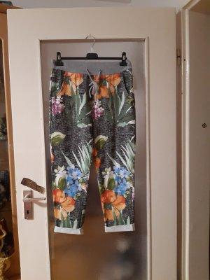 Made in Italy Spodnie typu boyfriend biały-czarny