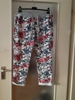 Made in Italy Hot Pants white-dark red
