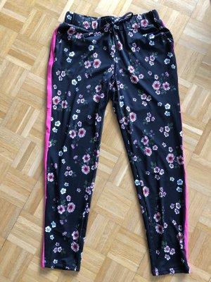 Joggpants schwarz/pink/Blumen S neu!!