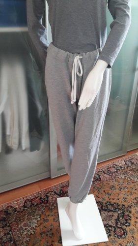 H&M Spodnie dresowe jasnoszary Bawełna