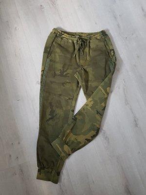 Funky Staff Pantalon kaki vert olive-kaki