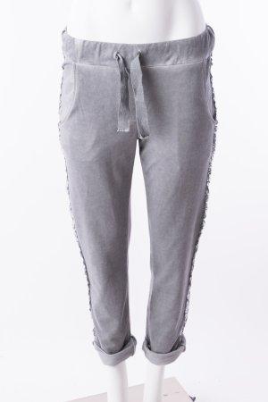 Jogpants Track Pants Jogginghose mit Glitzerapplikationen Grau One Size NEU