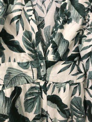 Johanna Ortiz Kleid 2020 limited Palm leaf trees XS 34 linen dress Ruffle Leinen