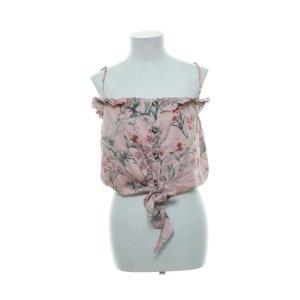 Johanna Ortiz  Top Satin floral rosa