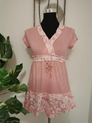 John Baner Damen Sommer Tunika Blusenshirt Babydollshirt rosa Größe 32/34 NEU