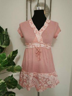 John Baner Top peplo rosa chiaro-rosa pallido Cotone