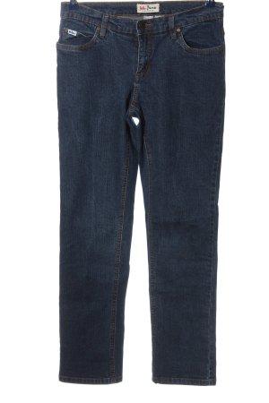 John Baner Pantalón de cinco bolsillos azul look casual