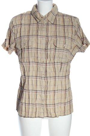 John Baner Blusa-camisa crema-marrón look casual