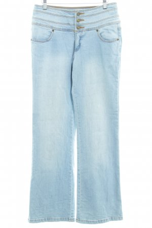 John Baner Hoge taille jeans azuur casual uitstraling