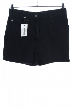 John Baner High-Waist-Shorts schwarz Casual-Look