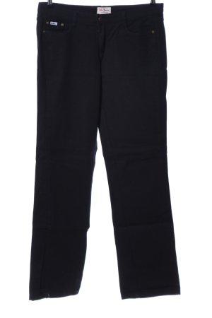 John Baner Lage taille broek zwart casual uitstraling