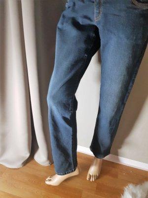 John Baner Jeans Gr 42 Blau slim stretch  Sehr gut erhalten