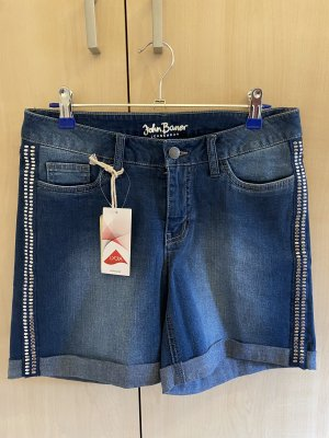 John Baner Pantaloncino di jeans blu-argento