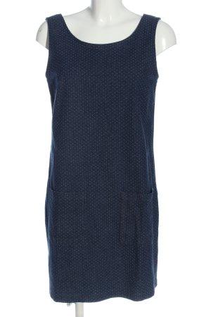 John Baner Jeanskleid blau-weiß Allover-Druck Casual-Look