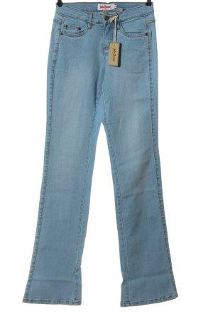 John Baner Jeans a zampa d'elefante blu stile casual