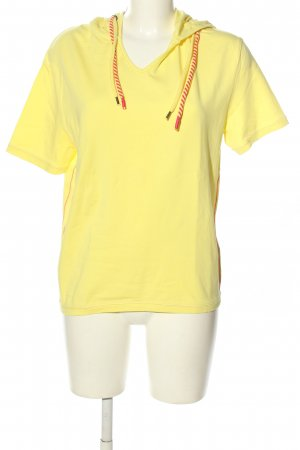 John Baner Camicia con cappuccio giallo pallido stile casual