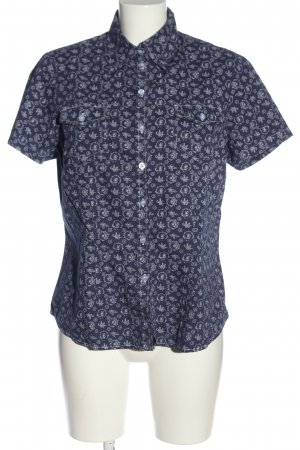 John Baner Short Sleeve Shirt blue-silver-colored allover print casual look