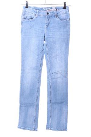 John Baner Jeans met rechte pijpen blauw casual uitstraling