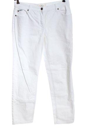 John Baner Jeansy z prostymi nogawkami biały W stylu casual
