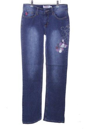 John Baner Jeansy z prostymi nogawkami niebieski Wzór w kwiaty W stylu casual