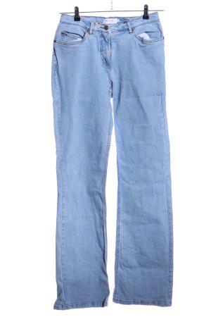 John Baner Jeansy z prostymi nogawkami niebieski W stylu casual
