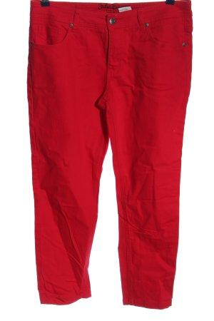 John Baner Jeansy z prostymi nogawkami czerwony W stylu casual