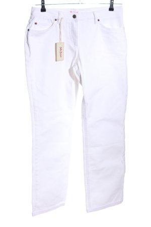 John Baner Straight-Leg Jeans weiß Casual-Look