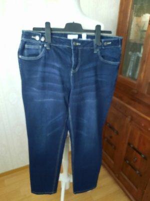 John Baner Jeansy z prostymi nogawkami niebieski Bawełna
