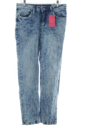 John Baner Jeansy z prostymi nogawkami niebieski-błękitny Sprane wykończenie