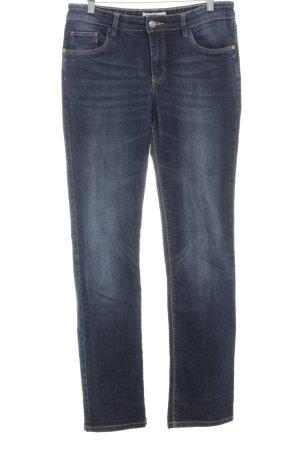 John Baner Straight-Leg Jeans dunkelblau Casual-Look