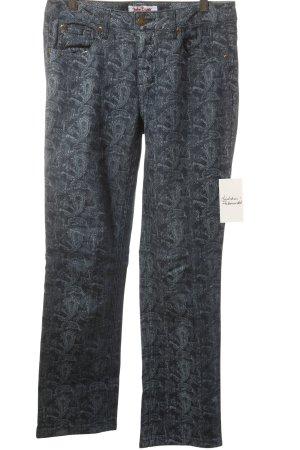 John Baner Straight-Leg Jeans dunkelblau Street-Fashion-Look
