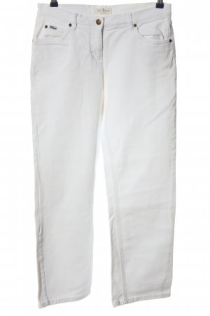 John Baner Straight-Leg Jeans weiß Casual-Look