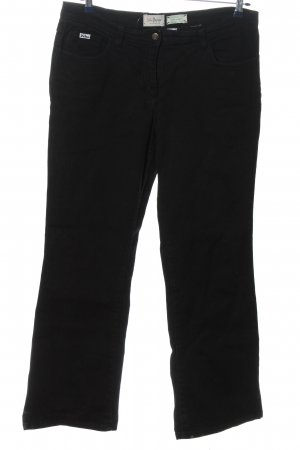 John Baner Jeansy z prostymi nogawkami czarny-kremowy W stylu casual