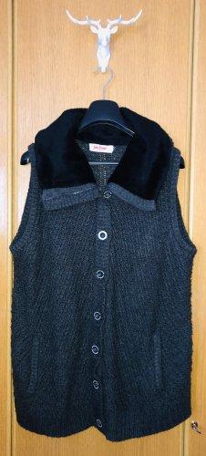 John Baner Cardigan a maglia grossa antracite-nero