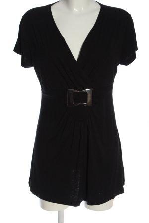 John Baner Camicia maglia nero stile casual