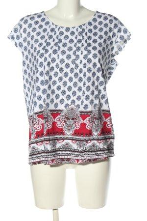 John Baner T-Shirt Allover-Druck Casual-Look