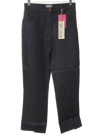 John F. Gee 3/4-Hose schwarz schlichter Stil