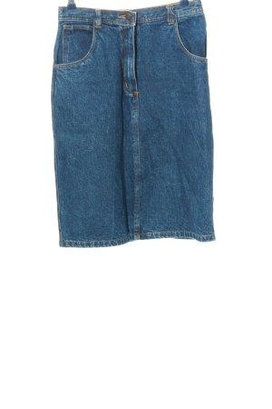 John F. Gee Denim Skirt blue casual look