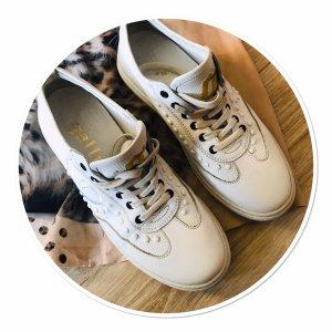 John Galliano Sneaker stringata bianco Pelle