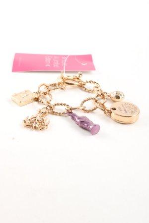 John Galliano Gouden armband goud-lila casual uitstraling