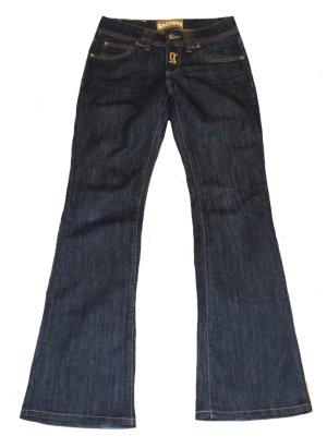 John Galliano Jeans stretch bleu foncé coton