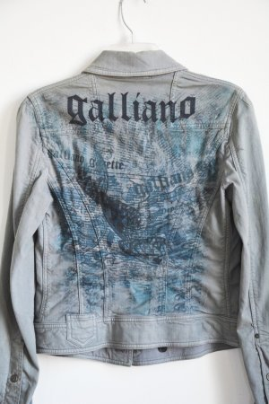 John Galliano Jeansjacke Jacke Denim Stretch Gazette Vintage IT 42 S