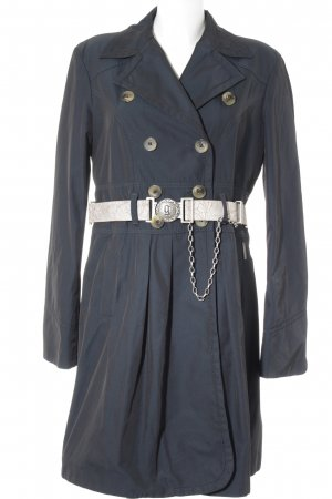 John Galliano Trenchcoat petrol Casual-Look