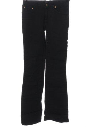 John Richmond Jeansy o kroju boot cut czarny-złoto W stylu casual