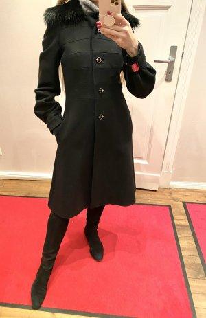 John Richmond Winter Coat black wool
