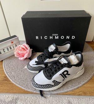 John Richmond Sneaker schwarz weiß Größe 37